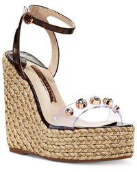 Sophia Webster - Women's Dina Gem Espadrille Wedge Sandals - Lyst