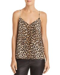 Equipment - Layla Leopard Silk Camisole Top - Lyst