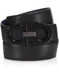 Ferragamo | Double Gancini Reversible Leather Belt | Lyst
