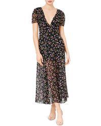 Betsey Johnson Cherry-print Maxi Dress - Black