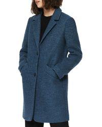 Marc New York Paige Bouclé Coat - Blue