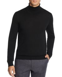 Bloomingdale's Merino Wool Turtleneck Sweater - Black