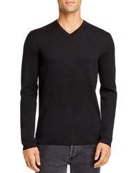 Theory Detroe Milos V - Neck Sweater - Black