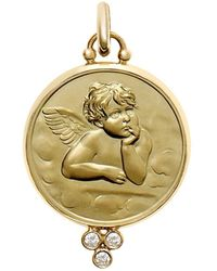 Temple St. Clair - 18k Yellow Gold Angel Pendant With Diamonds - Lyst