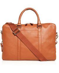 Shinola Slim Leather Computer Briefcase - Brown