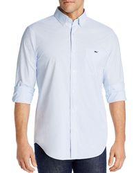 Vineyard Vines Plaid Tucker Classic - Fit Button - Down Shirt - Blue