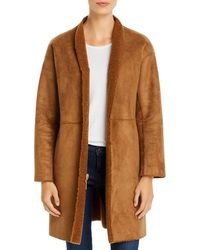 Kenneth Cole Reversible Faux - Shearling Coat - Brown