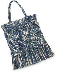 Whistles Clea Tie - Dye Crochet Tote - Blue