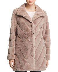 93b26774cf2b Calvin Klein - Faux Fur Coat - Lyst