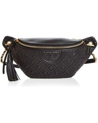 9ae852065f9 Tory Burch Fleming Belt Bag Black in Black - Lyst