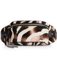 AllSaints - Captain Zebra Print Belt Bag - Lyst