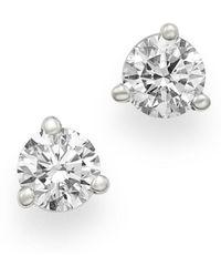 Bloomingdale's Certified Diamond Stud Earrings In 18k White Gold