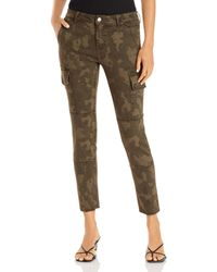 Aqua Skinny Cargo Jeans In Camo - Green