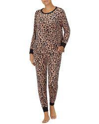 Kate Spade Contrast Piping Pajama Set - Brown