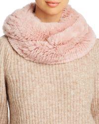 Maximilian Rabbit Fur Infinity Scarf - Pink