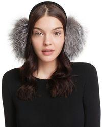 Surell - Velvet Band Fox Fur Earmuffs - Lyst
