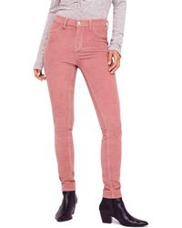 Free People - Corduroy Skinny Jeans In Mauve - Lyst
