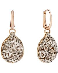 Pomellato - Arabesque Earrings With Brown Diamonds In 18k Rose And White Gold - Lyst