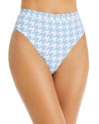 Aqua Swim Fall Voyage High - Leg High - Waist Bikini Bottom - Blue