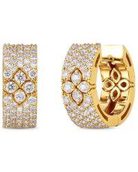 Roberto Coin 18k Yellow Gold Love In Verona Diamond Drop Earrings - Metallic