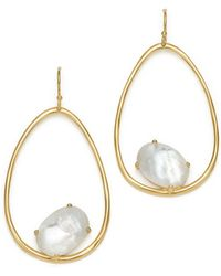Ippolita - 18k Yellow Gold Rock Candy® Mother-of-pearl And Clear Quartz Doublet Drop Earrings - Lyst