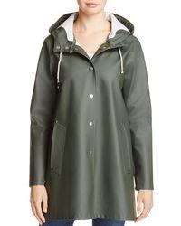 Stutterheim - Mosebacke Hooded Raincoat - Lyst