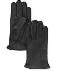 Bloomingdale's The Store At Bloomingdale's Cashmere Lined Leather Gloves - Black