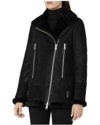Reiss - Starling Shearling Jacket - Lyst