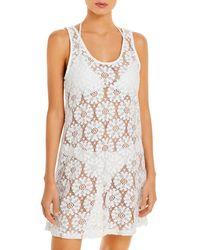 J Valdi Tulum Crochet Cover Up Tank Dress - White