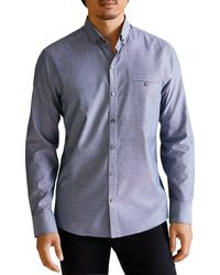 Zachary Prell Abcede Classic Fit Button - Down Shirt - Blue
