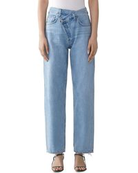 Agolde Suburbia Criss - Cross High - Rise Jeans - Blue
