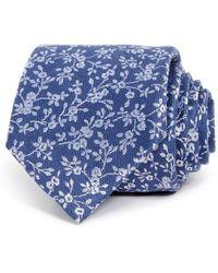 Bloomingdale's - Floral Skinny Tie - Lyst