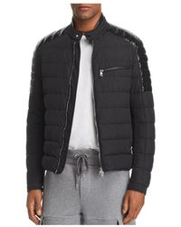 a47211a7b Lyst - Moncler Picard Quilted Nylon Moto Jacket in Black for Men