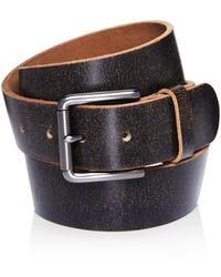 AllSaints Distressed Leather Belt - Black