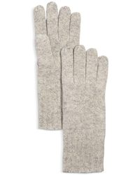 C By Bloomingdale's Cashmere Gloves - Gray