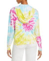 Aqua Tie Dyed Hoodie - Multicolour