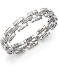 Roberto Coin - 18k White Gold Retro Diamond Link Bracelet - Lyst