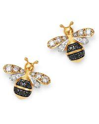 Bloomingdale's Diamond Bumble Bee Earrings In 14k Yellow Gold - Metallic