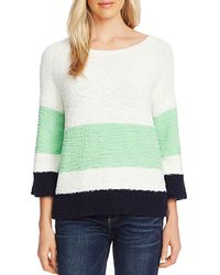 Vince Camuto Colorblock Teddy Knit Jumper - Green