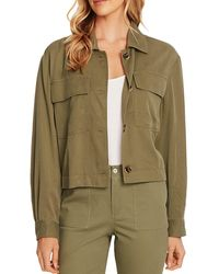 Vince Camuto Button - Front Jacket - Green