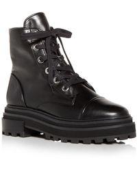 Schutz Maylova Block Heel Platform Combat Boots - Black