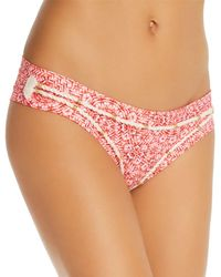 OndadeMar Weave Print Low Rise Bikini Bottom - Multicolor