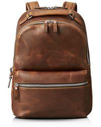Shinola Runwell Leather Backpack - Brown
