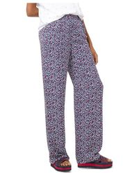 MICHAEL Michael Kors Heart-print Silk-georgette Pyjama Trousers - Blue