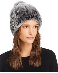 Maximilian Knit Rabbit Fur Hat - Black
