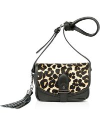 Joe's - Berkely Small Leopard Print Calf Hair Saddle Bag - Lyst