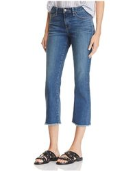 Velvet By Graham & Spencer - High Rise Crop Jeans In Classic - Lyst