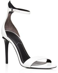 Kendall + Kylie Elin Ankle Strap High Heel Sandals - White