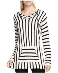 Two By Vince Camuto Stripe Knit Hoodie - White