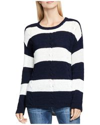 Two By Vince Camuto - Stripe Drop Shoulder Cable Jumper - Lyst